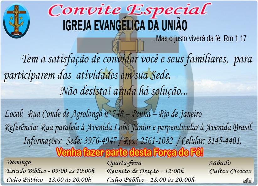 Igreja Evangélica da União – UMEM – União de Militares